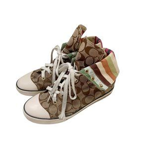 Coach Bonney Canvas Fold Over Sneakers